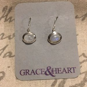 Grace&Heart Over the Moonstone Earrings